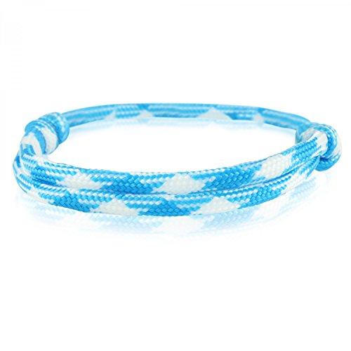 Skipper Surfer-Armband mit Segelknoten für Damen und Herren - Blau/Weiß 6736