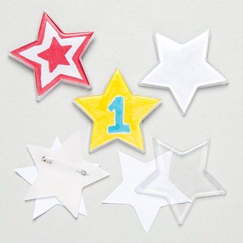 Baker Ross Bastelsets für Anstecker in Sternform – Kreative Bastelsets für Kinder (10 Stück)