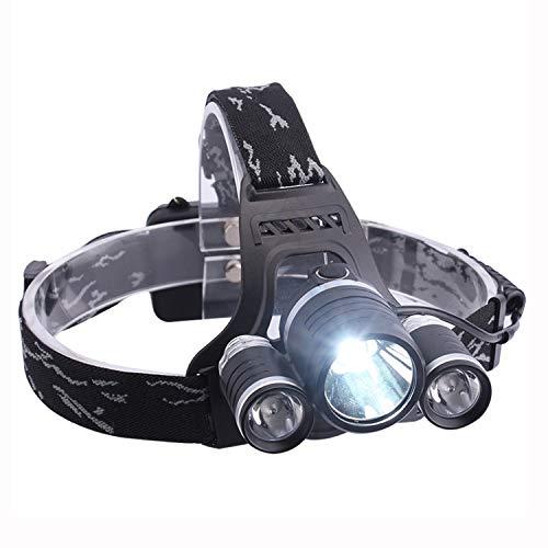 Nosterappou Faros, carga multifuncional inteligente y eficiente, luces de emergencia, lámpara de minero de pesca nocturna, faros de iluminación faros impermeables para caminatas, faros exteriores ilum