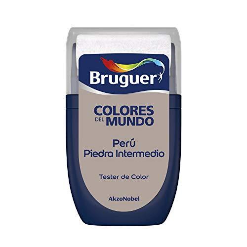 Bruguer Tester Colores del Mundo Pintura para paredes monocapa Perú Piedra Intermedio, 0.030 litros