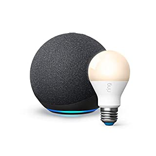 All-new Echo (4th Gen) - Charcoal - bundle with Ring A19 Smart LED Bulb, White (B08M1MRHN2) | Amazon price tracker / tracking, Amazon price history charts, Amazon price watches, Amazon price drop alerts