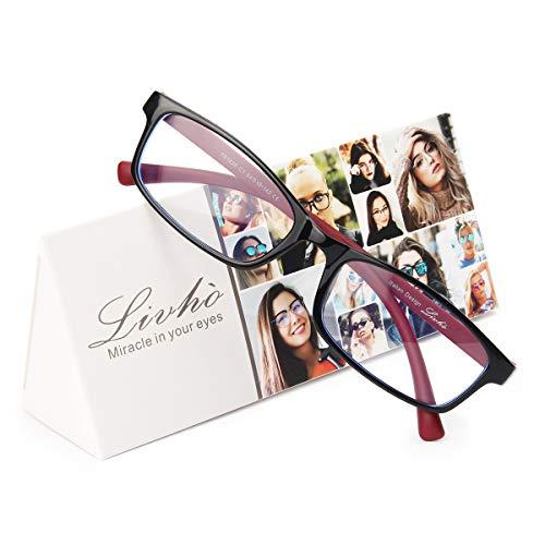 montatura occhiali donna Livhò Occhiali da lettura con blocco della luce blu