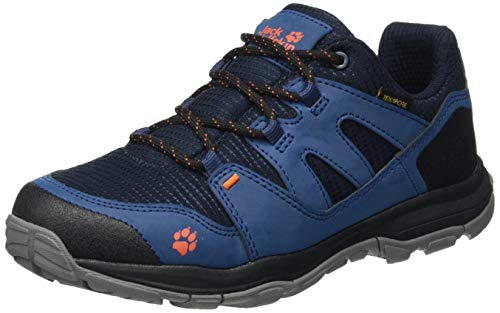 Jack Wolfskin Unisex Kinder MTN Attack 3 Texapore Low K Outdoorschuhe, Dark Blue/orange,34 EU