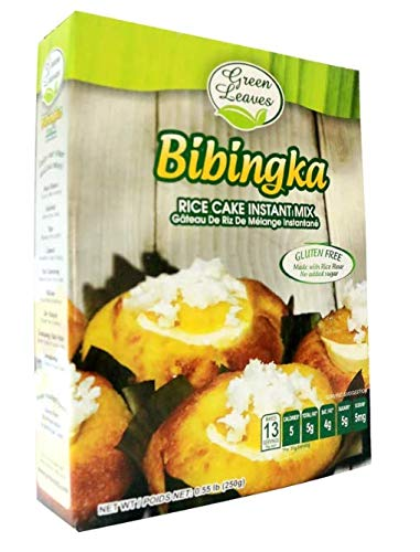 Green Leaves Instant Filipino Dessert traditional BIBINGKA READY MIX 8.8 oz - Authentic Filipino Flavors - Great for Parties, Easy To Make, can be cooked using microwave or stove-top