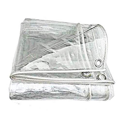 ZXF Hogar Lona Impermeable Lona Transparente a Prueba de Polvo Impermeable Cortina Impermeable pérgola Cubierta del Coche Espesado PVC Lona de camión Pesado (Size : 2X2M)