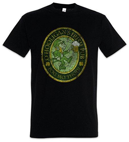 Urban Backwoods O'Hooligans Irish Pub Vintage Herren T-Shirt Schwarz Größe 2XL