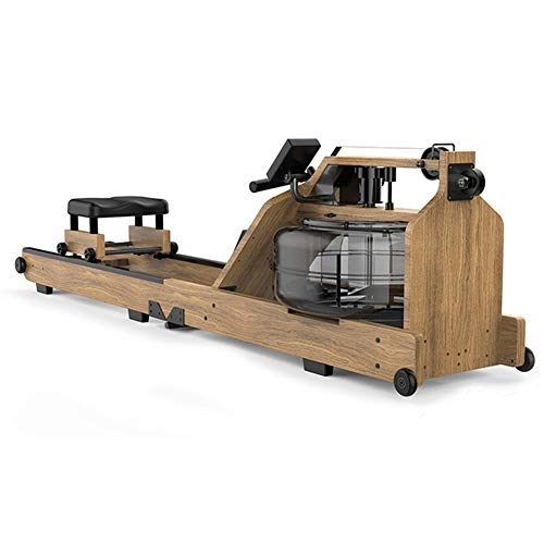 DAMAI Folding Rowing Machine Real Wood Rowing Machine with Water Resistance Adjustment, LCD Display and App Function