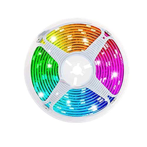 DSFEOIGY Luz de Tira LED No-Impermeable DC12V LED Luz de Cadena Diodo Ribbon Flexible Control + Adaptador 5m 10m (Color : Led Strip Set, Size : 10M Full Set)