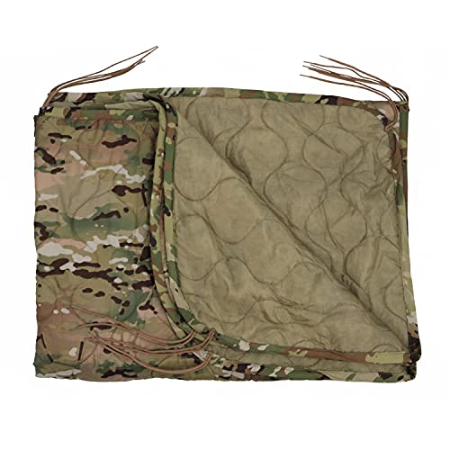 M MCGUIRE GEAR Military Woobie Poncho Liner, Nylon Ripstop Shell, Polyester Insulation, Sleeping Bag, Blanket, Carrying Sack, Made in USA (Multicam Scorpion)