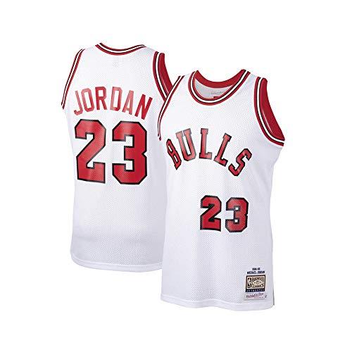 Hombres de Baloncesto Jersey # 23 Michael Jordan Chicago Bulls Breathing Kit de Malla Deportes Jersey Kits Top Pantalones Cortos Chaleco Clásico Unisex Ropa Deportiva, Neutral, Niños, color C, tamaño S (170 cm)