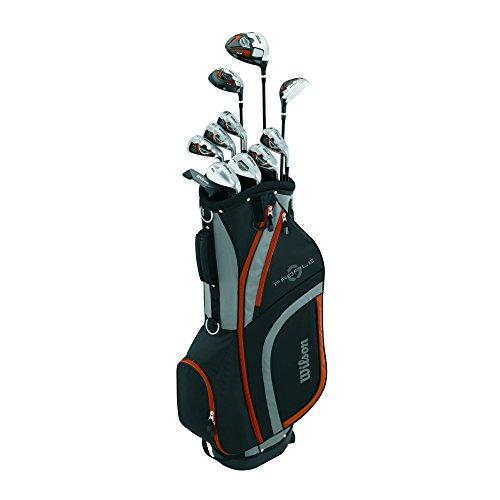 Wilson Men's Profile XLS Senior Complete Package Golf Set, Right Hand, Burnt Orange