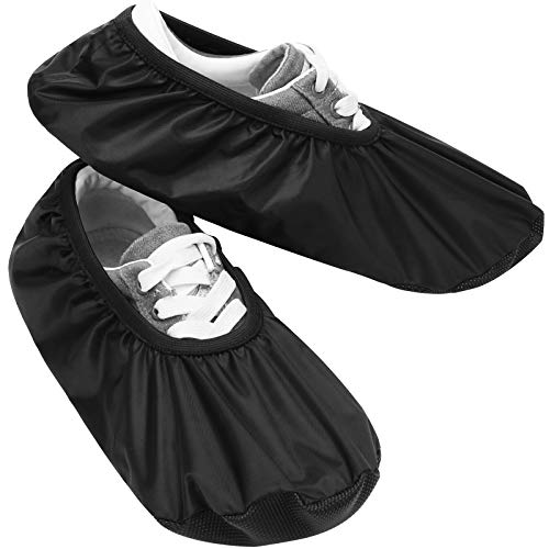 COITEK Bowling Shoe Covers, Shoe Protector Covers for Bowling Shoe Waterproof Reusable and Anti Slip (Large)