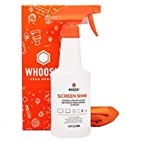 WHOOSH! Screen Cleaner Kit - [16.9 Oz] Best for Smartphones, iPads, Eyeglasses, e-Readers, TV Screen Cleaner, LED, LCD,Computer Screen Cleaner, Laptop & Touchscreen - Screen Cleaner Spray + 2 Cloths