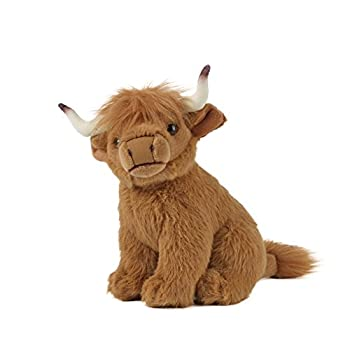 Living Nature Soft Toy - Small Highland Cow  20cm