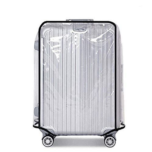 スーツケース カバー 防水 - キャリーケースカバー ラゲッジカバー クリア 透明 レインカバー 傷 汚れ 雨 保護 PVC 出張旅行適用 (28インチ)