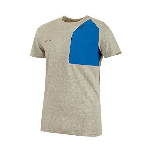 Mammut T-Shirt Crashiano Pocket pour Homme. XXL Olive Melange-Surf