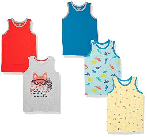 Amazon Essentials 5 Pack Sleeveless Tank Tops Camiseta, Paquete de 5 Fox, XXL, Pack de 5