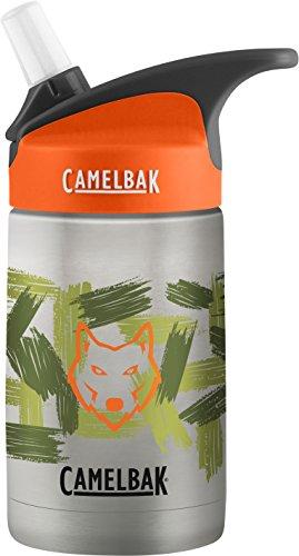 CamelBak Eddy Kids Vacuum Insulated Stainless Steel Bottle 12 oz, Wolf Camo