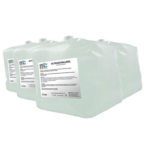 Ultraschallgel - 4x 5kg Cubitainer, Kontaktgel 20kg, Leitgel, Sonographie Übertragungsgel