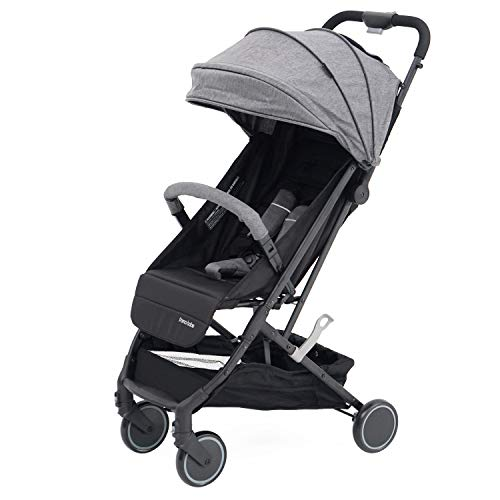 Compact Baby Stroller with Folding Design (Grey)