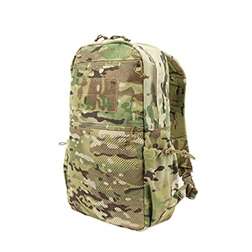 TRCS Mochila resistente al agua, 15 L, doble hombro, mochila de viaje, mochila de trekking, para portátil, camping, escalada, mochila de moda, Multicam A,