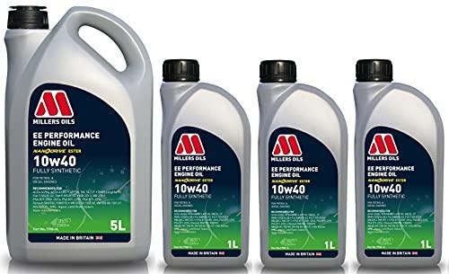 Millers Oils EE Performance Aceite de motor totalmente sintético 10w40 A3/B4, 8 litros