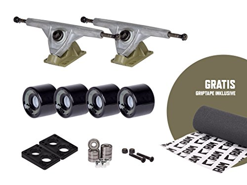 RAM UB-Truck - Set de ejes para longboard, 180 mm, incluye cinta de adherencia, 12332, armee grün