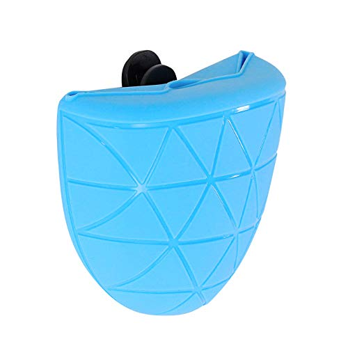 dibea FB00641 Futterbeutel für Hunde aus Silikon Trainingsbeutel Snacktasche, blau