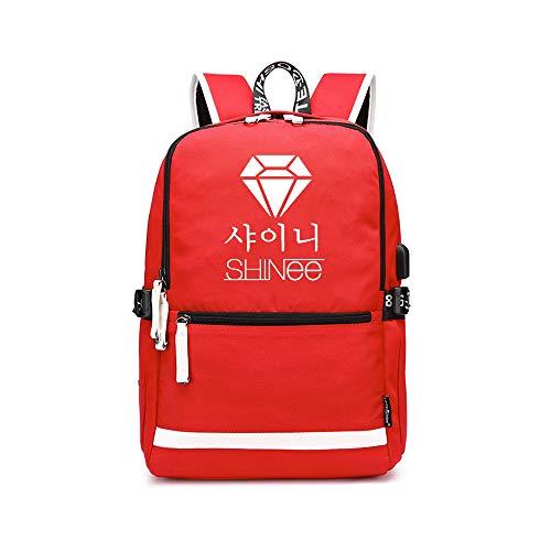 Shinee Rucksack für Kinder und Jugendliche Große Kapazität Einfache Rucksack-Schulstudenten Personality Rucksack beiläufige Art und Weise Segeltuch-Kind-Rucksack klassischer wilder Wasserdicht Leichte