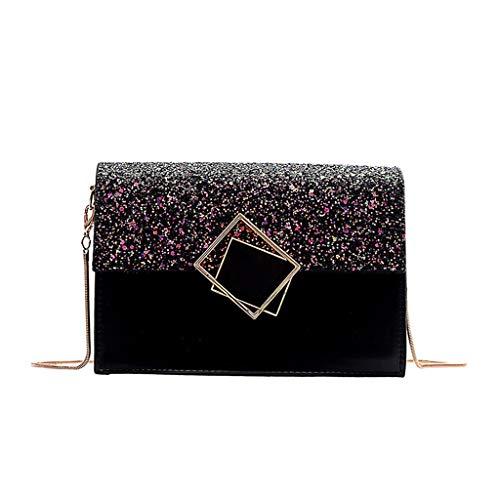 Jujia Co., Ltd. Modo di temperamento selvaggio Blocco semplice di struttura piccola borsa quadrata femminile 2019 nuova borsa di spalla della catena della ragazza selvaggia del messaggero