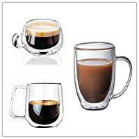 Double Iinsulated Glass Coffee Cup, Office And Home Tea Cup, Beverage Cup