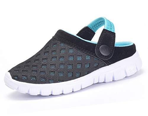 Zuecos Unisex Niños,Sandalias para Niñas,Zapatillas de Playa Antideslizante Zapatos de Verano,Azul,EU 33 =CN34