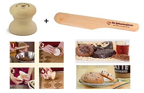 Neustanlo® Lebkuchenglocke Spar-Set mit Spatel Lebkuchenformer Lebkuchenform Lebkuchen Form (7 cm inkl Spatel)