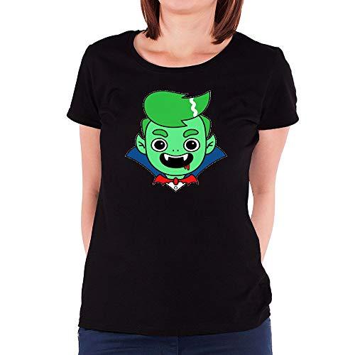 HUANGHUIH Damen Guava Juice Halloween Cotton Print T-Shirt Top Tee Medium