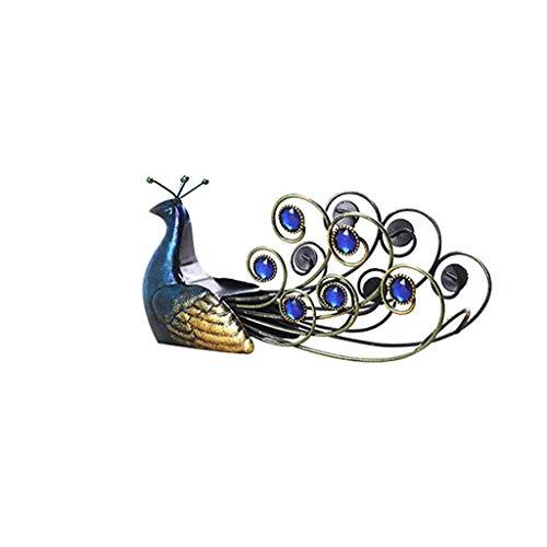 DAGONGREN Elegante Pavo Real, Hierro Forjado, Estante for Vino, Botella Individual, Soporte de Mesa, artículos de decoración Creativa, exhibición de artículos