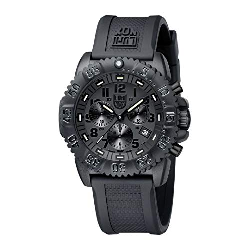 Luminox Watches Men - Navy Seals Colormark Chronograph Black Out (XS.3081.BO / 3080 Series) - 200 Meter Water Resistant, Hardened Mineral Glas, Luminous