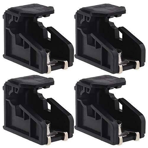 4 clips de montaje para faros delanteros, compatible con Volkswagen Polo 2009-2018 soporte de plástico 6R0941511, color negro