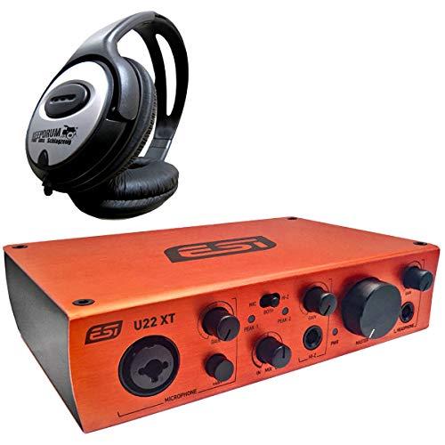 ESI U22 XT 2-Kanal USB-Audio-Interface + keepdrum Kopfhörer