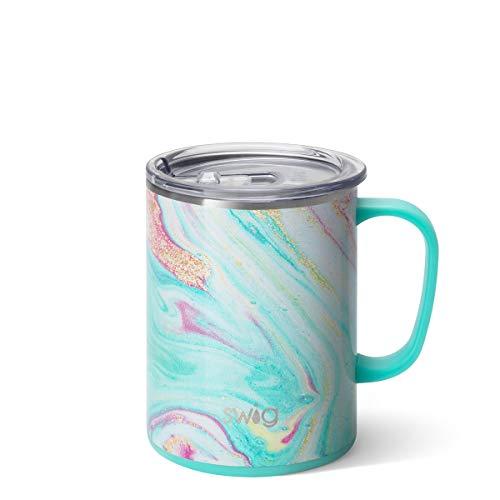 Swig Life 24oz Mega Mug, Triple Insulated Large Travel Mug with Handle and Lid, Dishwasher Safe, Double Wall, and Vacuum Sealed Stainless Steel Coffee Mug in Wanderlust Print