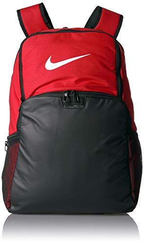 NIKE Brasilia XLarge Backpack 9.0, University Red/Black/White, Misc