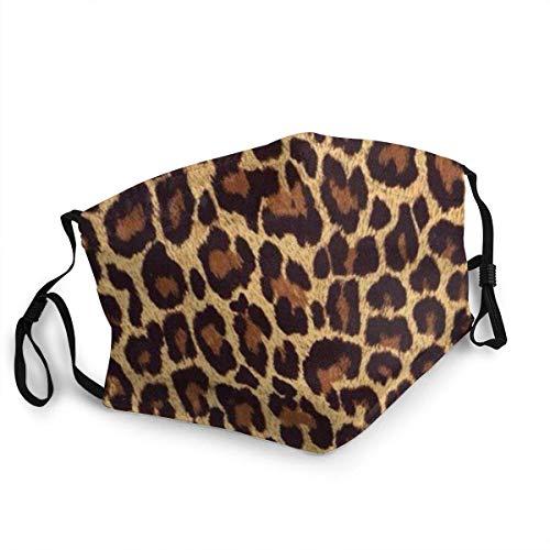 AYGoUP Gesichtsschutz Mundschutz Cover Cooles Leopard Leopard Haar Wiederverwendbarer Nasenschutz Waschbar staubdicht gegen Verschmutzung