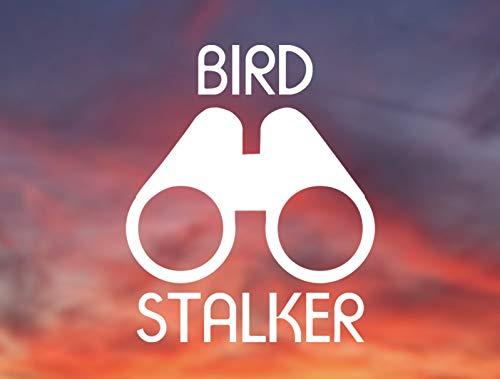 Decal-Bird Stalker und Fernglas, lustiger Vinyl-Aufkleber für Vögel und Vogelliebhaber, Vinyl-Aufkleber für Auto, Fenster, Computer und mehr, 15,2 cm