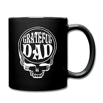 Gift Coffee Mugs Grateful Dad Cup Dead Head Fan Full Mug,Funny Coffee Mug Gifts 11 Oz