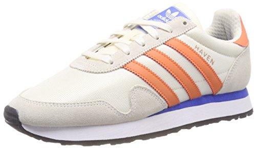 adidas Haven, Zapatillas de Gimnasia Hombre, Blanco (Chalk White/Trace Orange/Off White 0), 49 1/3 EU 🔥