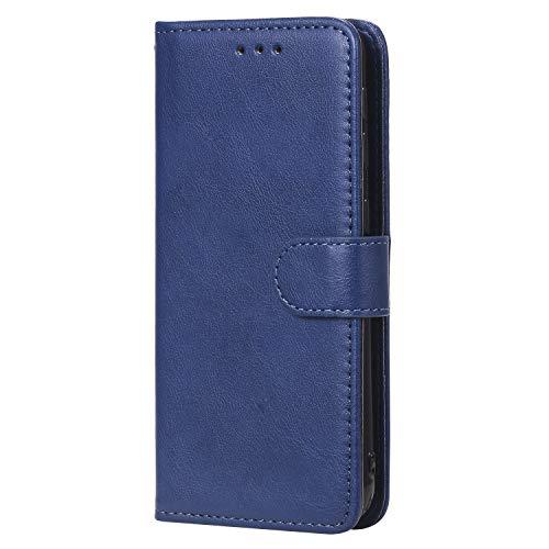 WIWJ Hülle für Samsung Galaxy A20E Tasche Flip Blau - Rein Farbe Ledertasche Wallet Case mit Kartenhalter Abnehmbar Magnet Backcover Detachable Schutzhülle für Samsung Galaxy A20E Handyhülle