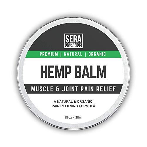 Hemp Pain Relief Cream Natural Hemp Pain Relief Balm for Back, Knee, Neck, Nerve & Joint Pain, Inflammation & Sore Muscles. Arthritis Rheumatoid Gout Fibromyalgia Sciatica Pain Relief By Sera Organics