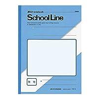 アピカ スクールライン学習帳 セミB5 無罫 LW3 アクア 1包(10冊)