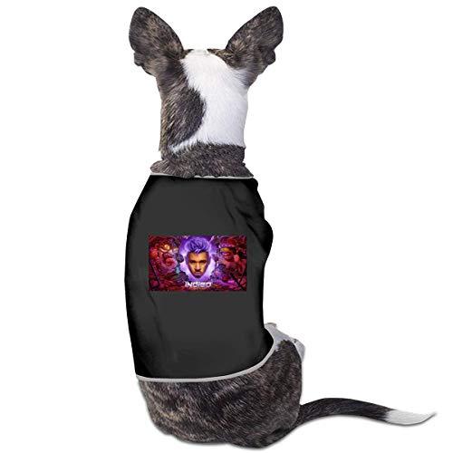 FETEAM Disfraz de Chris Brown Dogs Gatos para Perros pequeos medianos Camisa para Mascotas Sudaderas con Capucha Vestir Ropa Divertida para Mascotas Gatito Cachorro