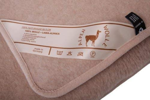 Wolldecke Lama Alpaca 20% Alpaca Wolle 80% Merino Wolle, Schurwolldecke (140x200)
