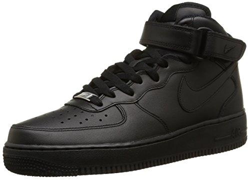Nike Air Force 1 Mid '07, Scarpe da Basket Uomo, Nero, 44 EU